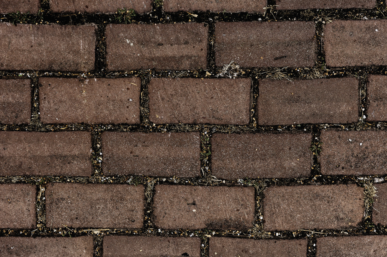 red stone walkway texture