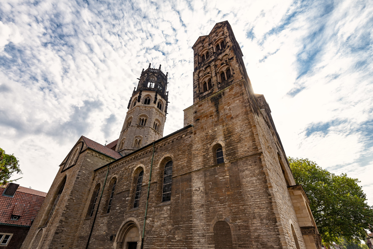st ludgeri church in munster by germany