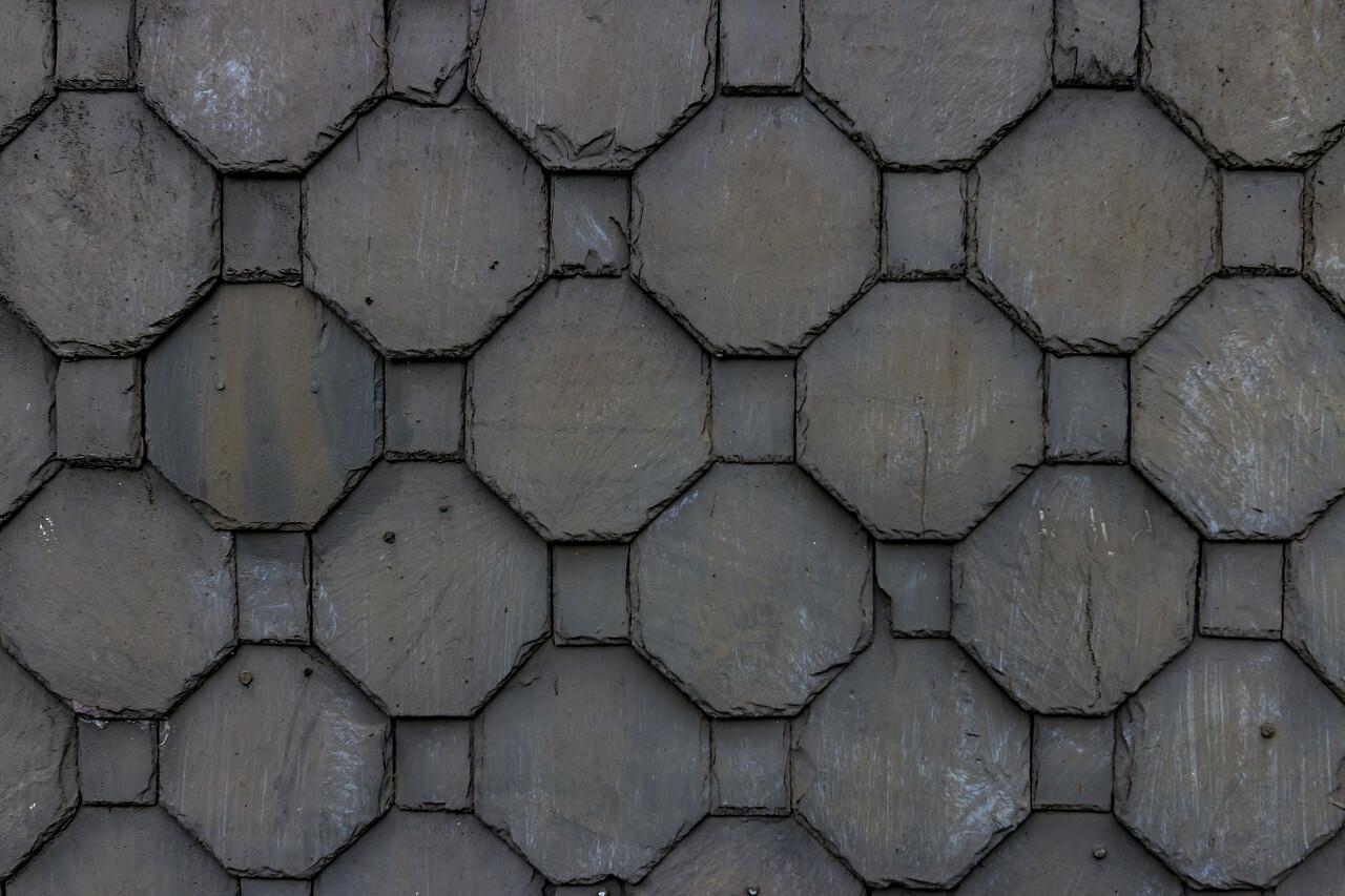 slatestone honeycomb shape wall texture