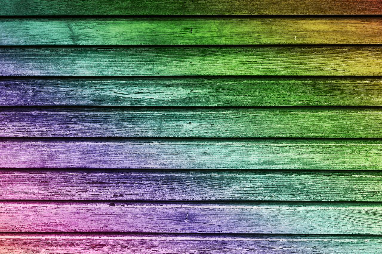 decorative rainbow wooden plank texture background