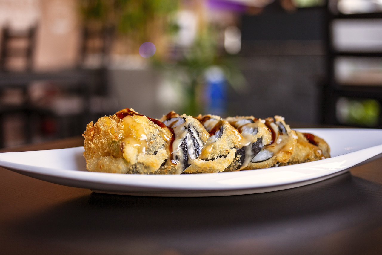 deep fried sushi