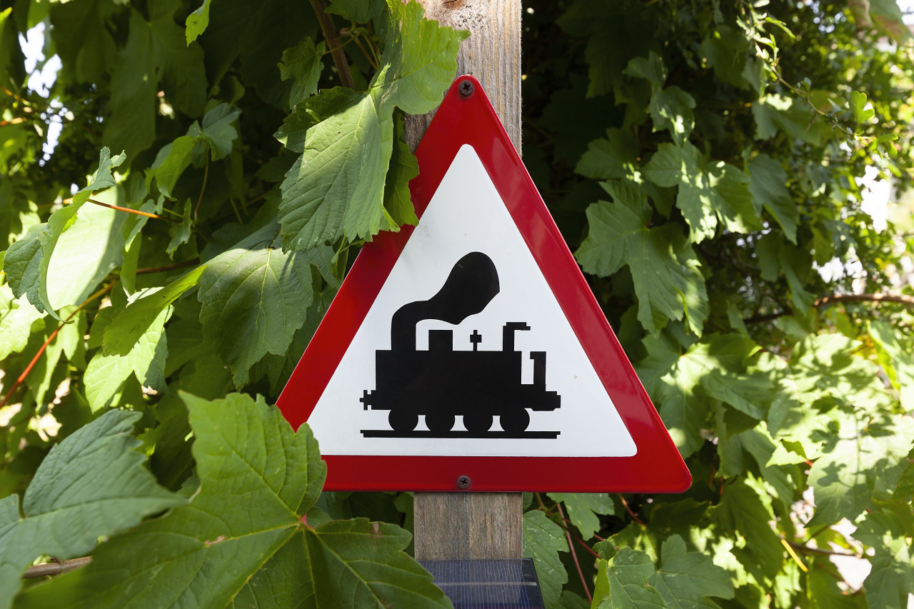 railway train sign