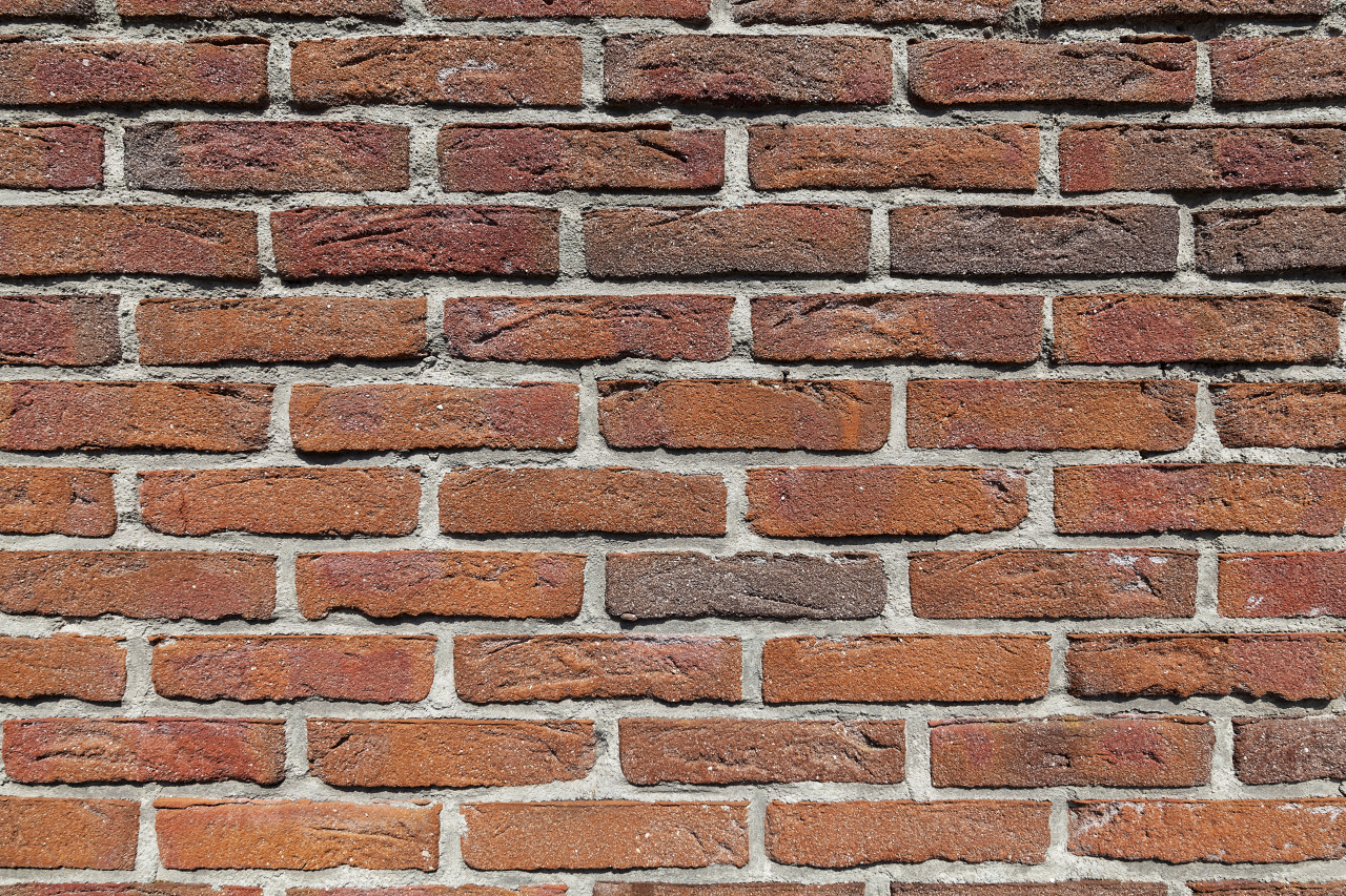 red brick wall stone texture background