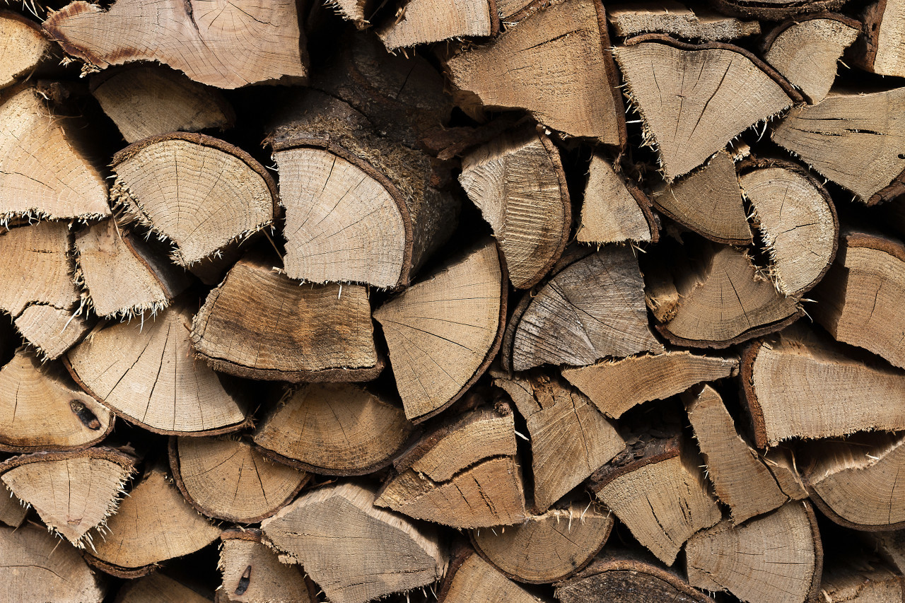 logs stacked background