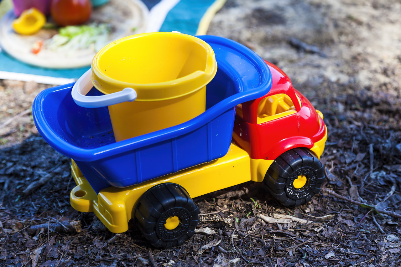 colorful toy dump truck
