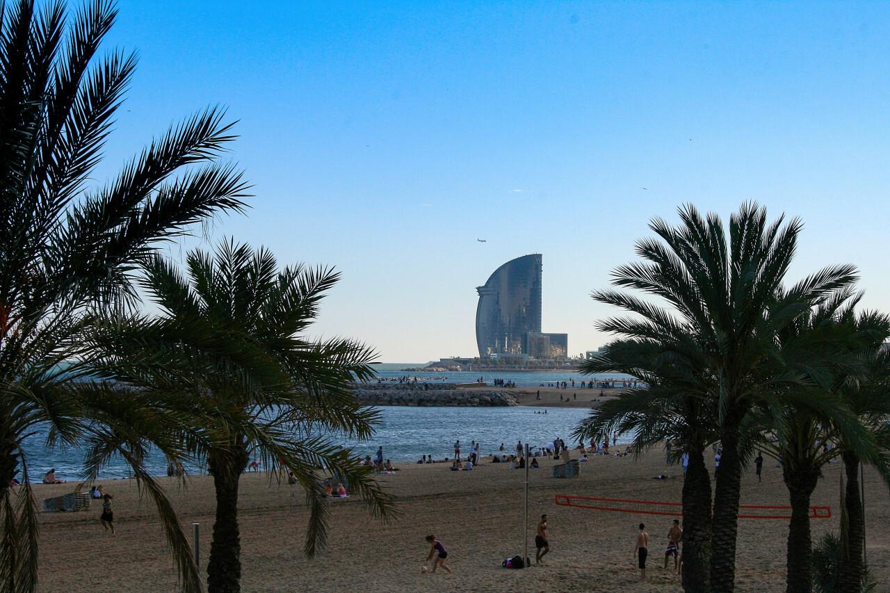 barcelona beach hotel view