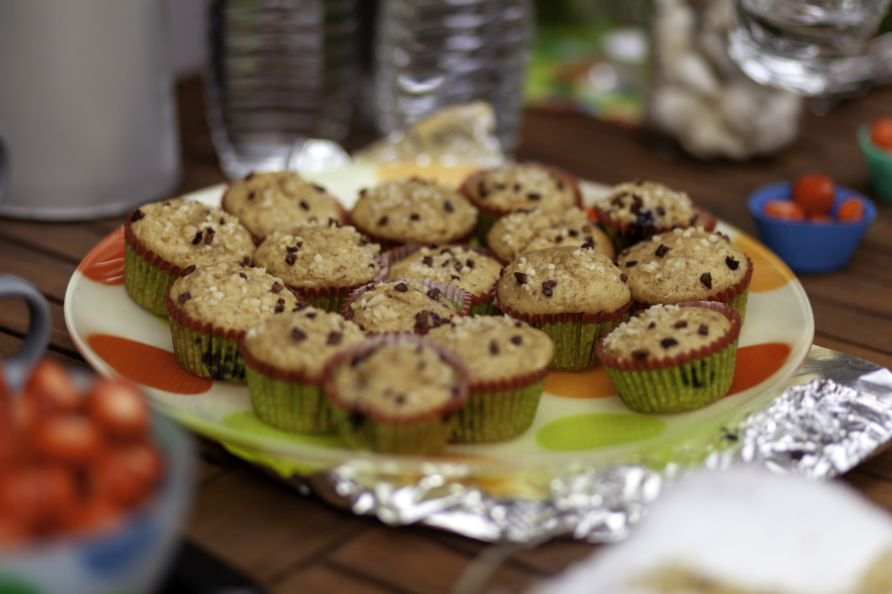 Muffins on a birthday party for kids