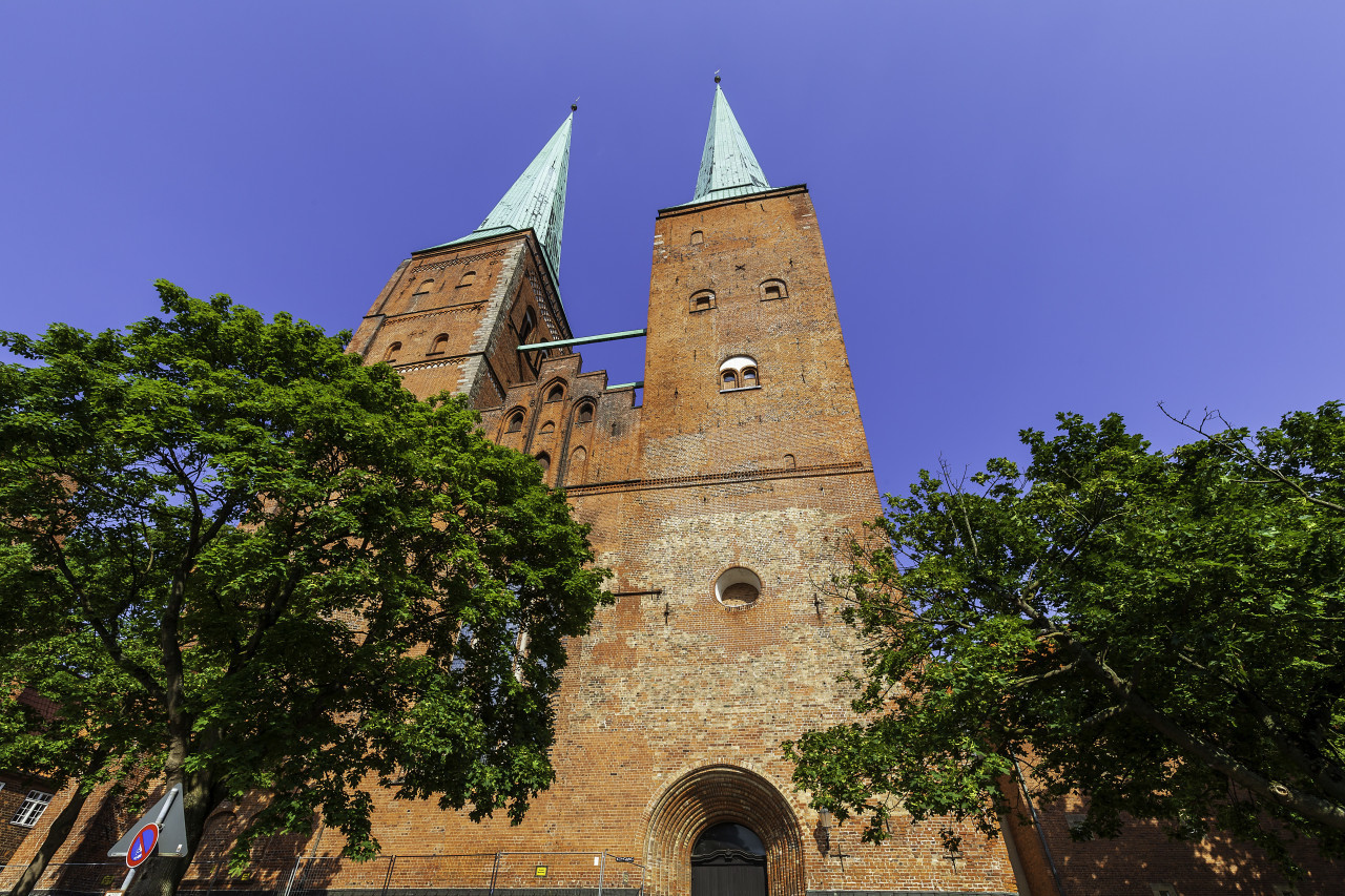 beautiful cathedral of the hanseatic city of lubeck