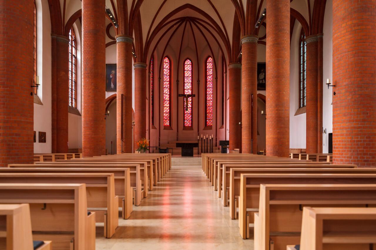 sacred heart church in lubeck interior