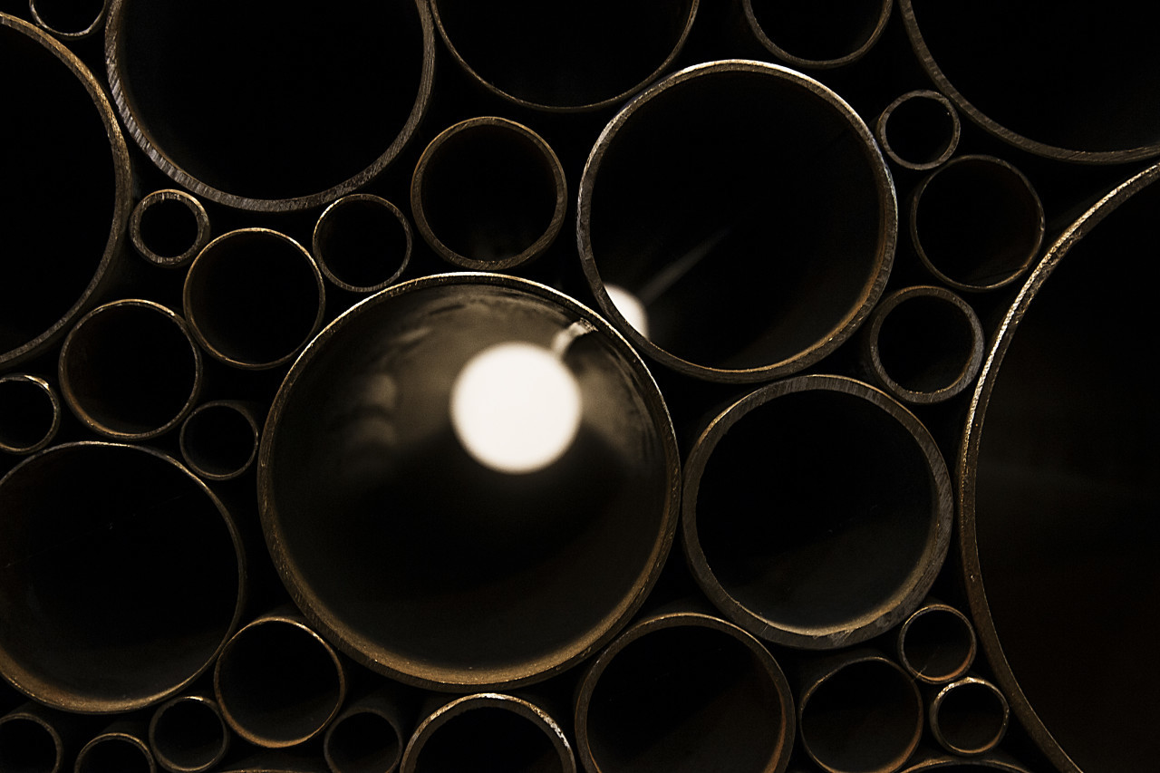 industrial abstract metallic pipe background