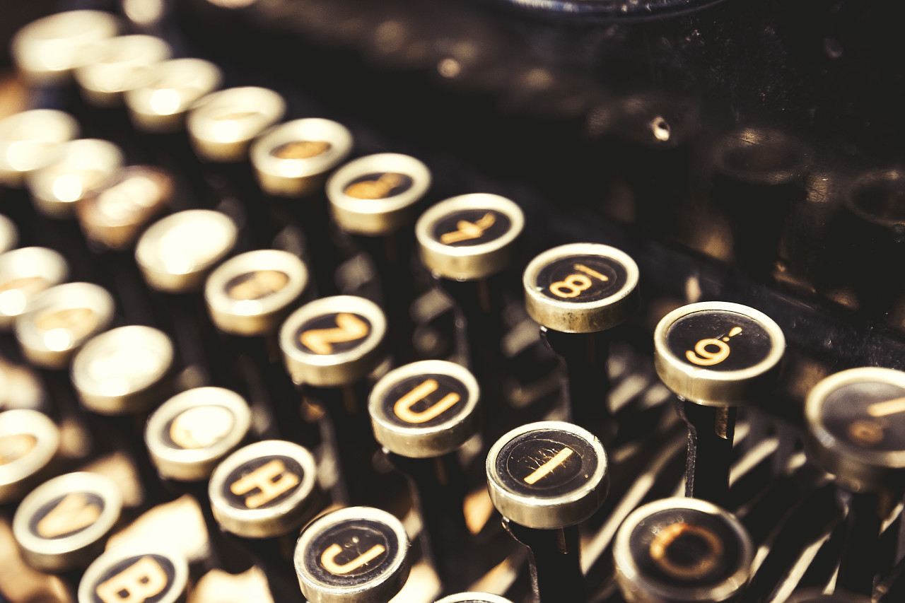 old vintage typewriter keys - keyboard