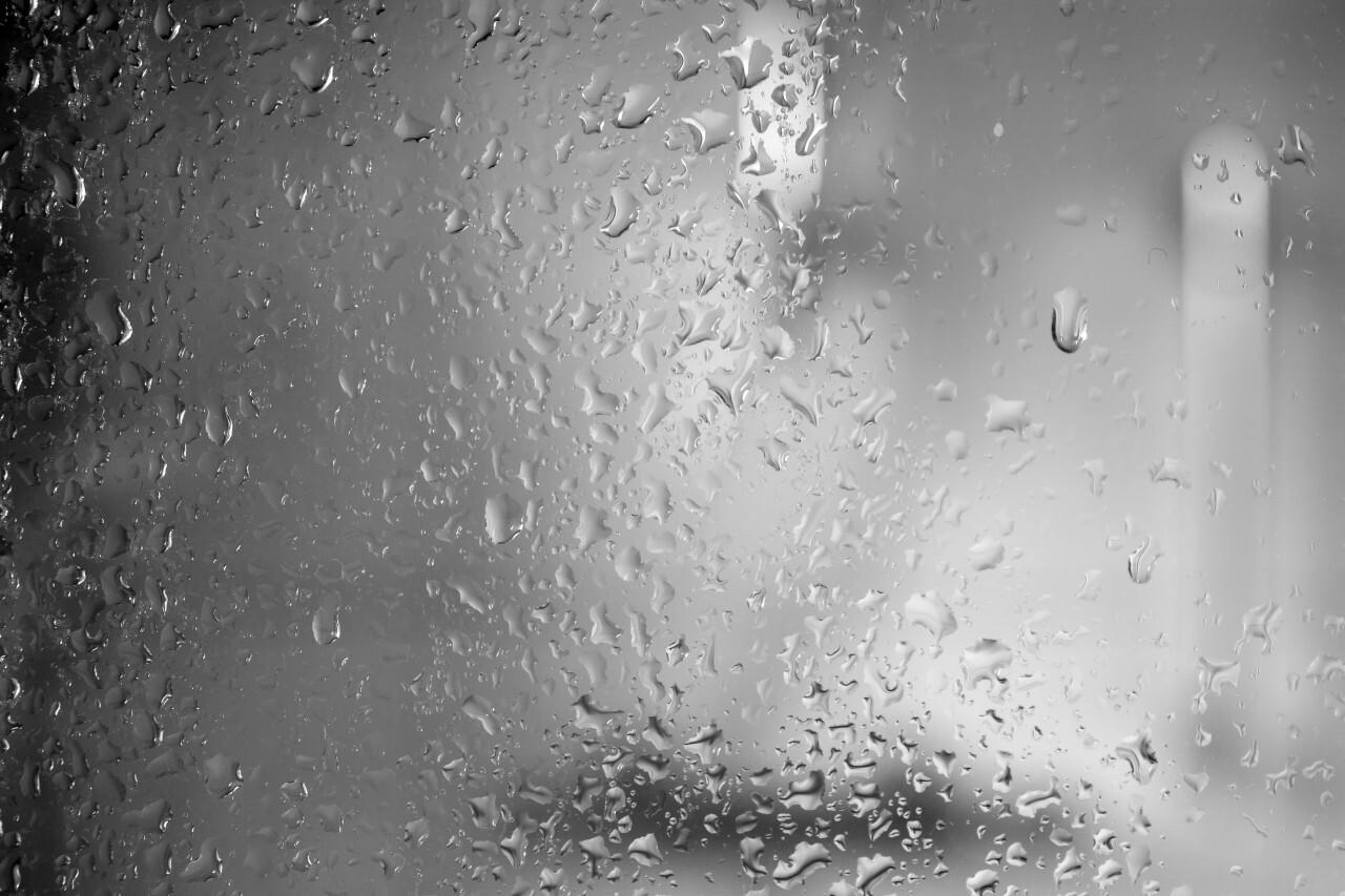 Waterdrops on a  shower window