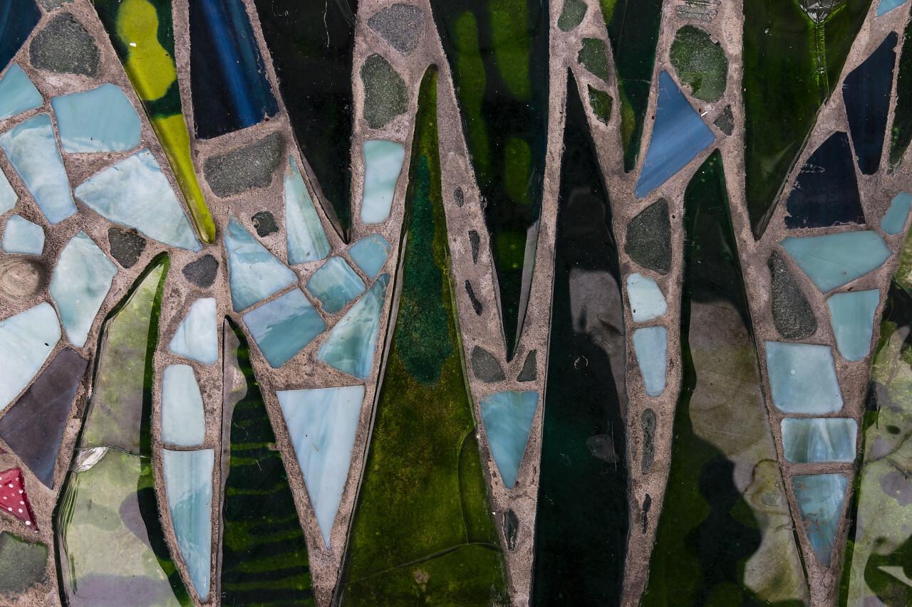 beautiful colorful mosaic texture