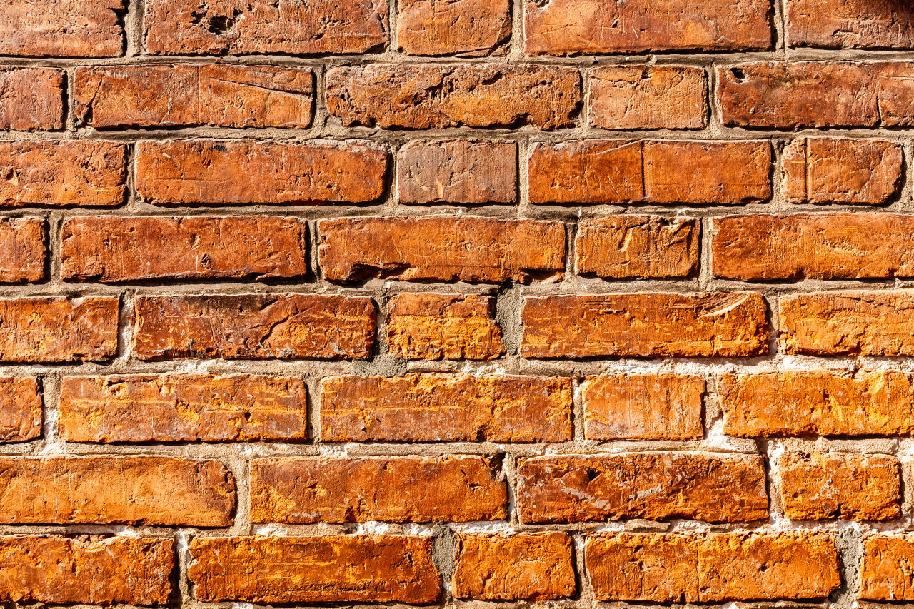 detailed red brick wall texture background