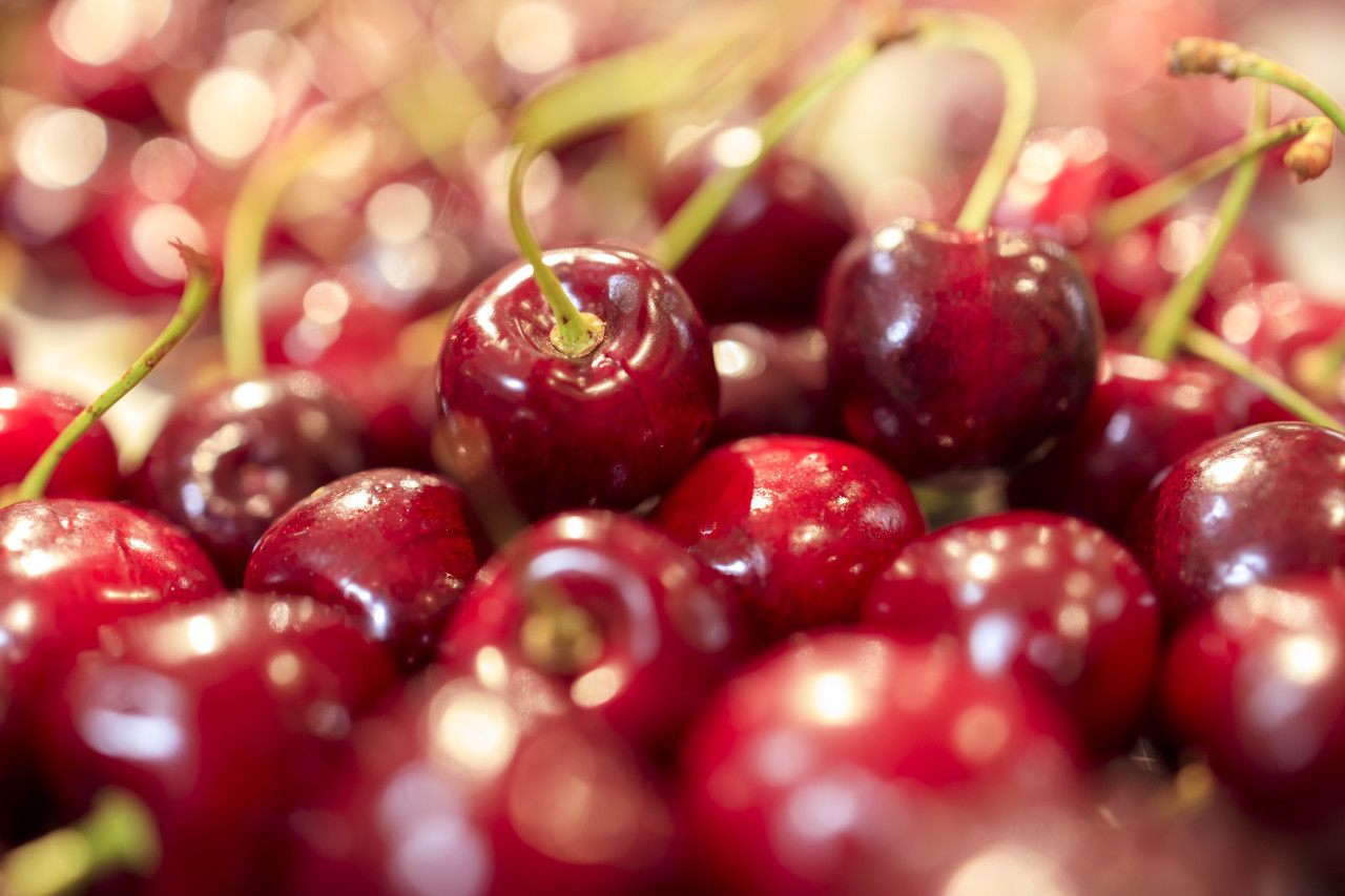 Pile of Cherries at the market