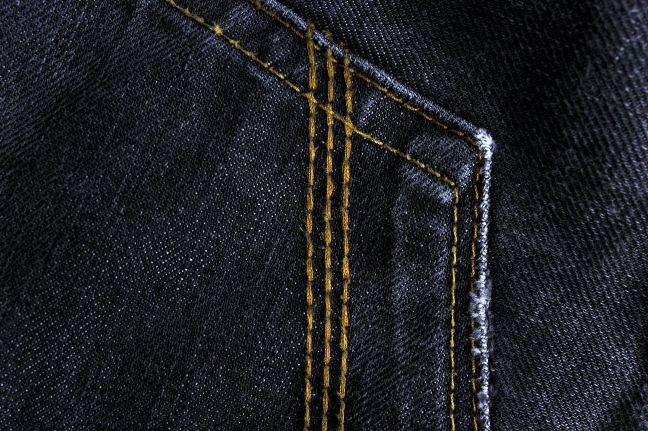 Black denim cloth texture background