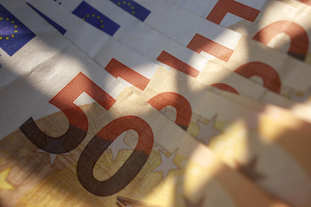 50 Euro Money Background