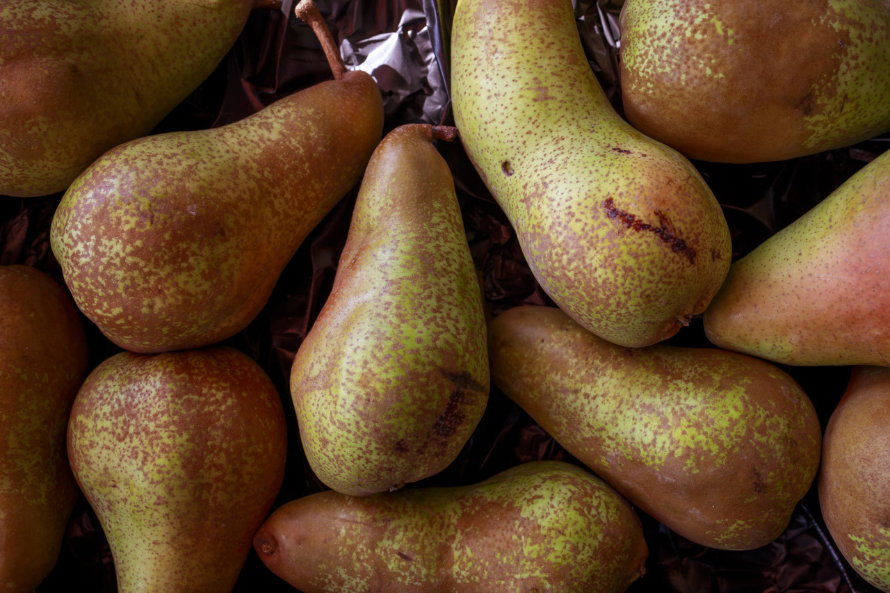 organic pears from the market