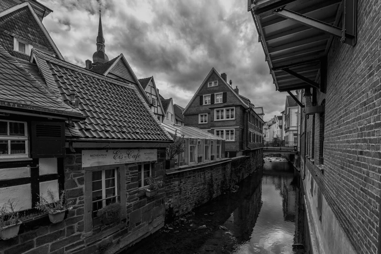Velbert Langenberg, Deilbach flows through the old town