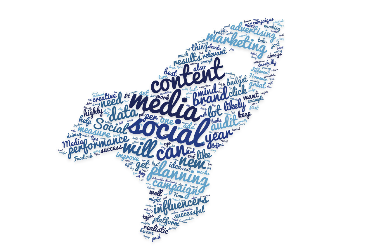 social media tag cloud rocket