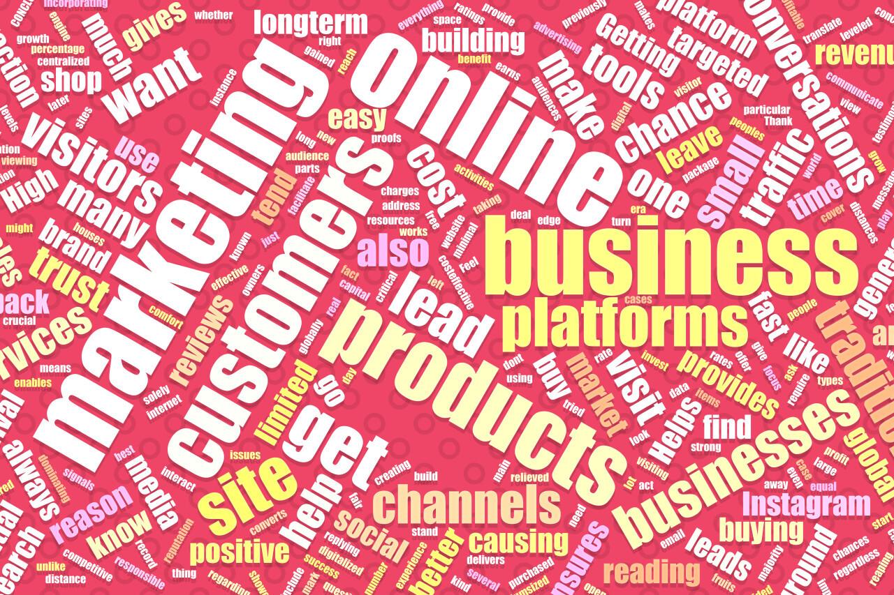 beautiful online marketing tag cloud