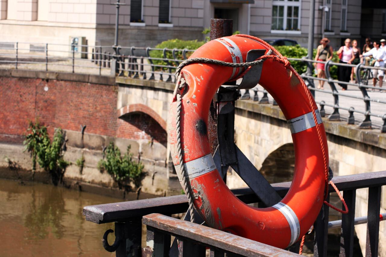 Lifebuoy in Hamburg