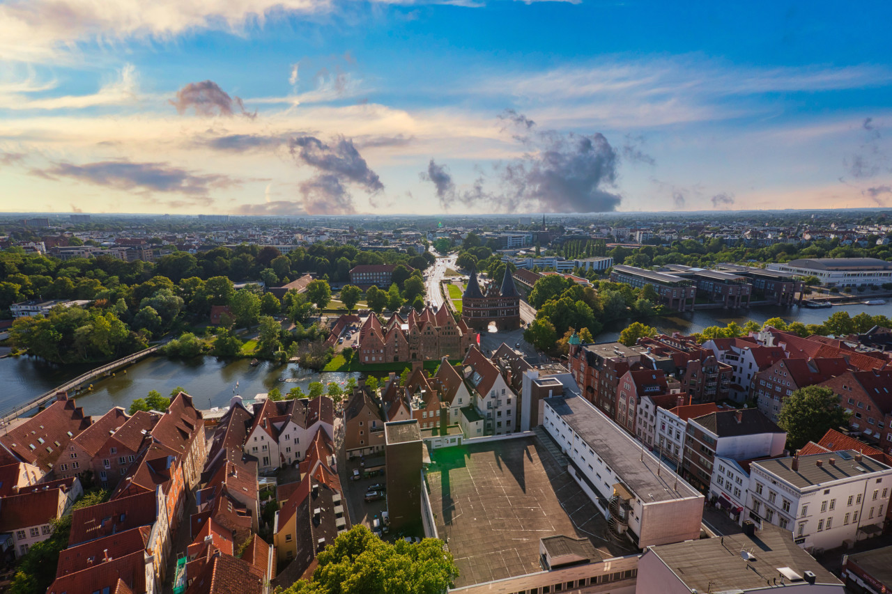 Panoramic view of Lübeck by Germany