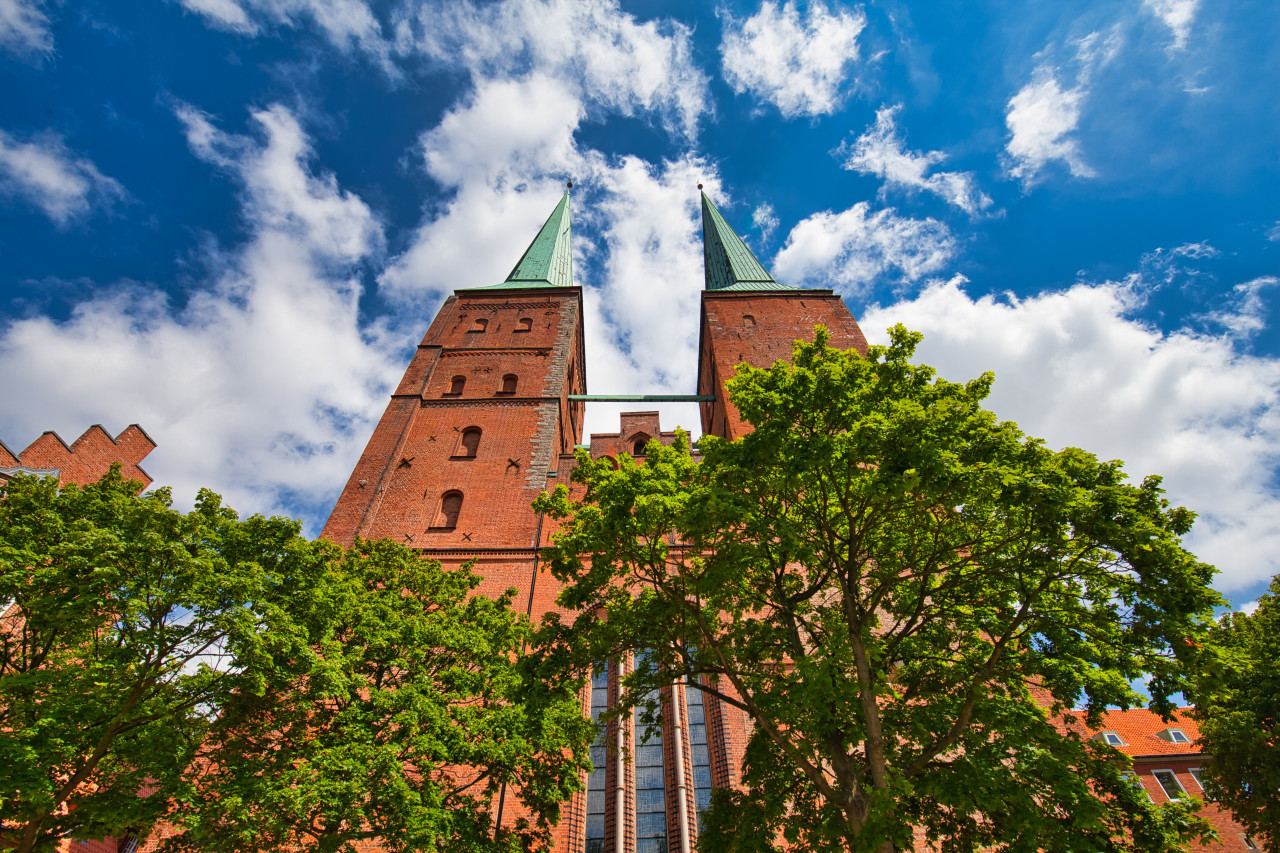 Beautiful cathedral of the hanseatic city of Lübeck - Dom zu Lübeck
