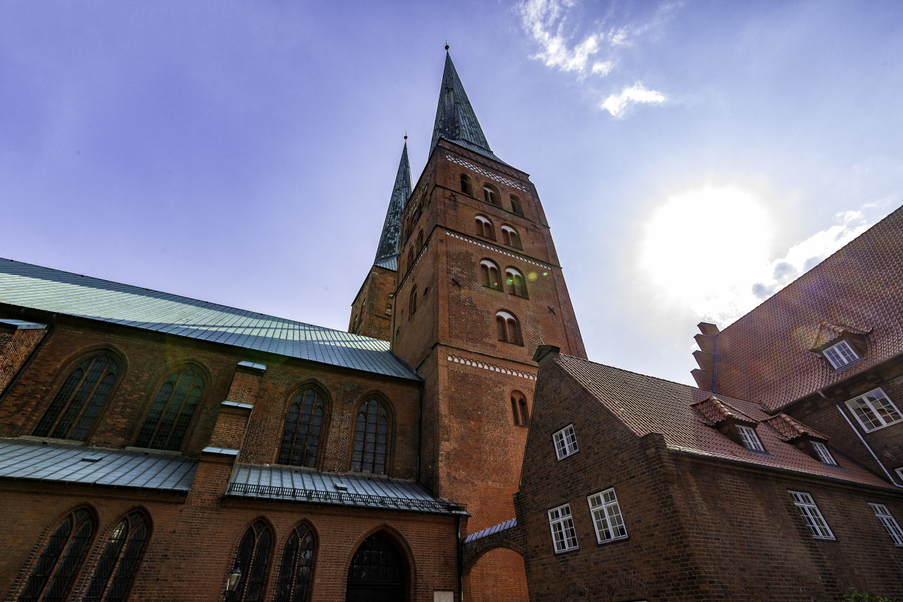 cathedral of the hanseatic city of lubeck