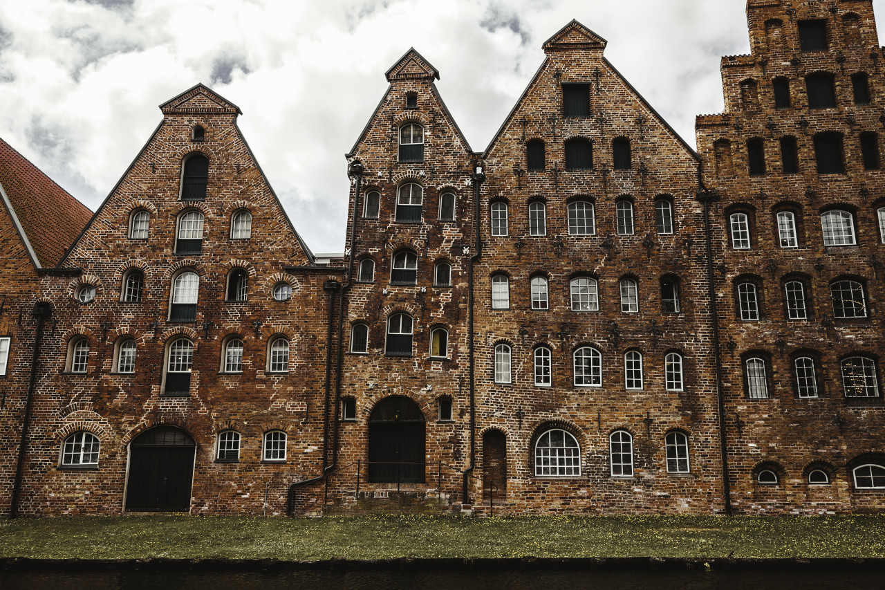 old salt warehouses in lübeck germany - salzspeicher