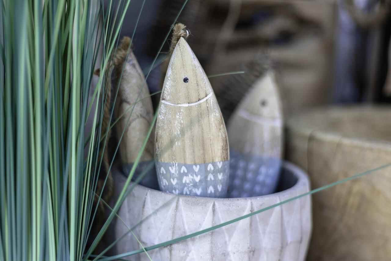 maritime decoration wooden fish