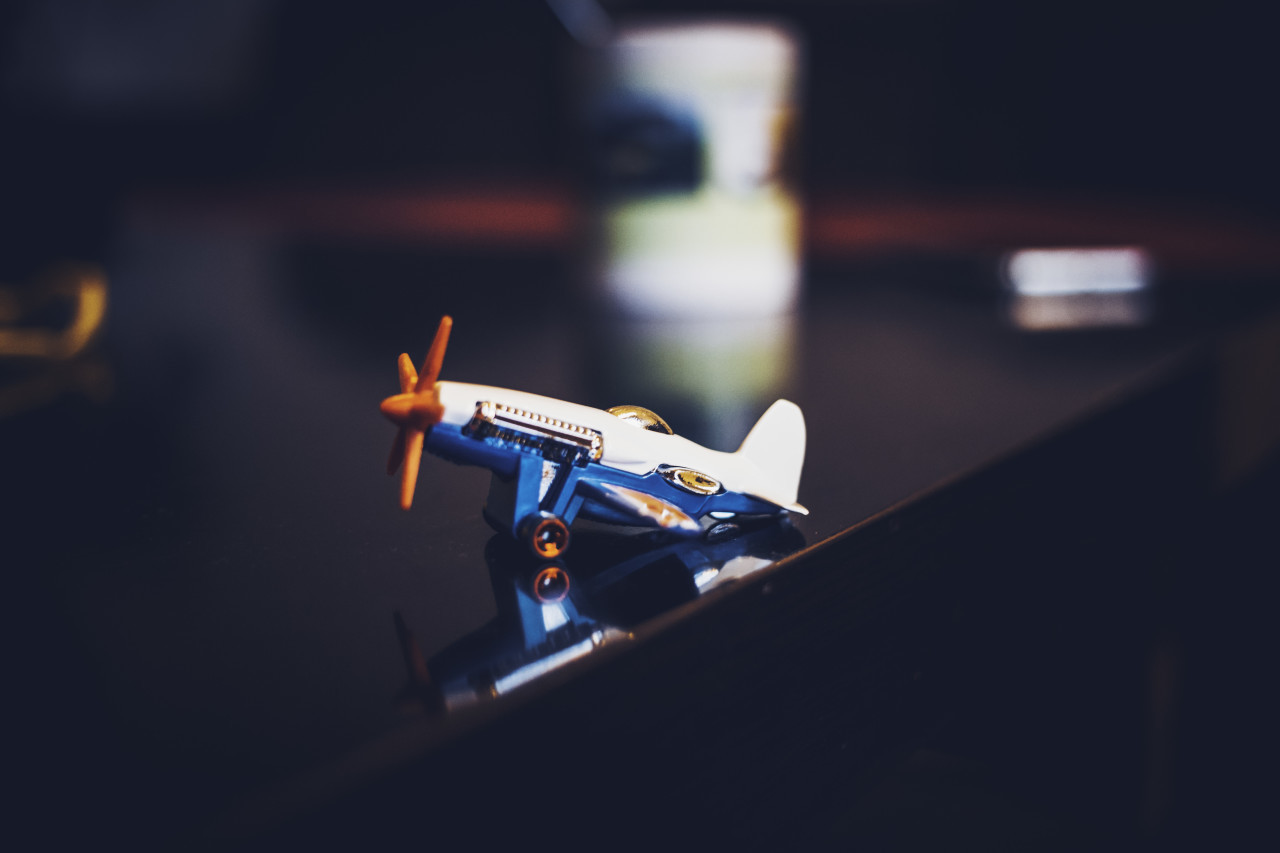 small toy propeller plane