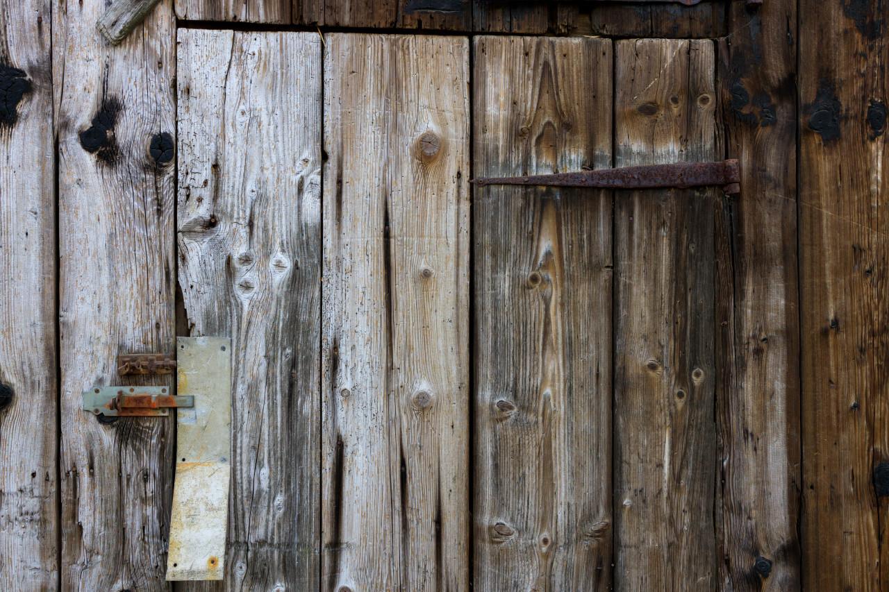 old rustical wood door texture