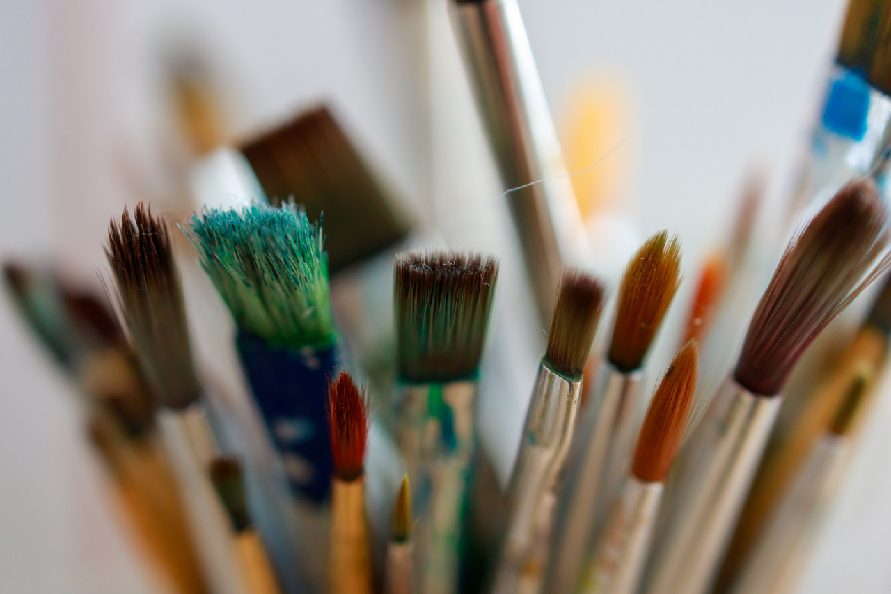 Brush collection by an artist