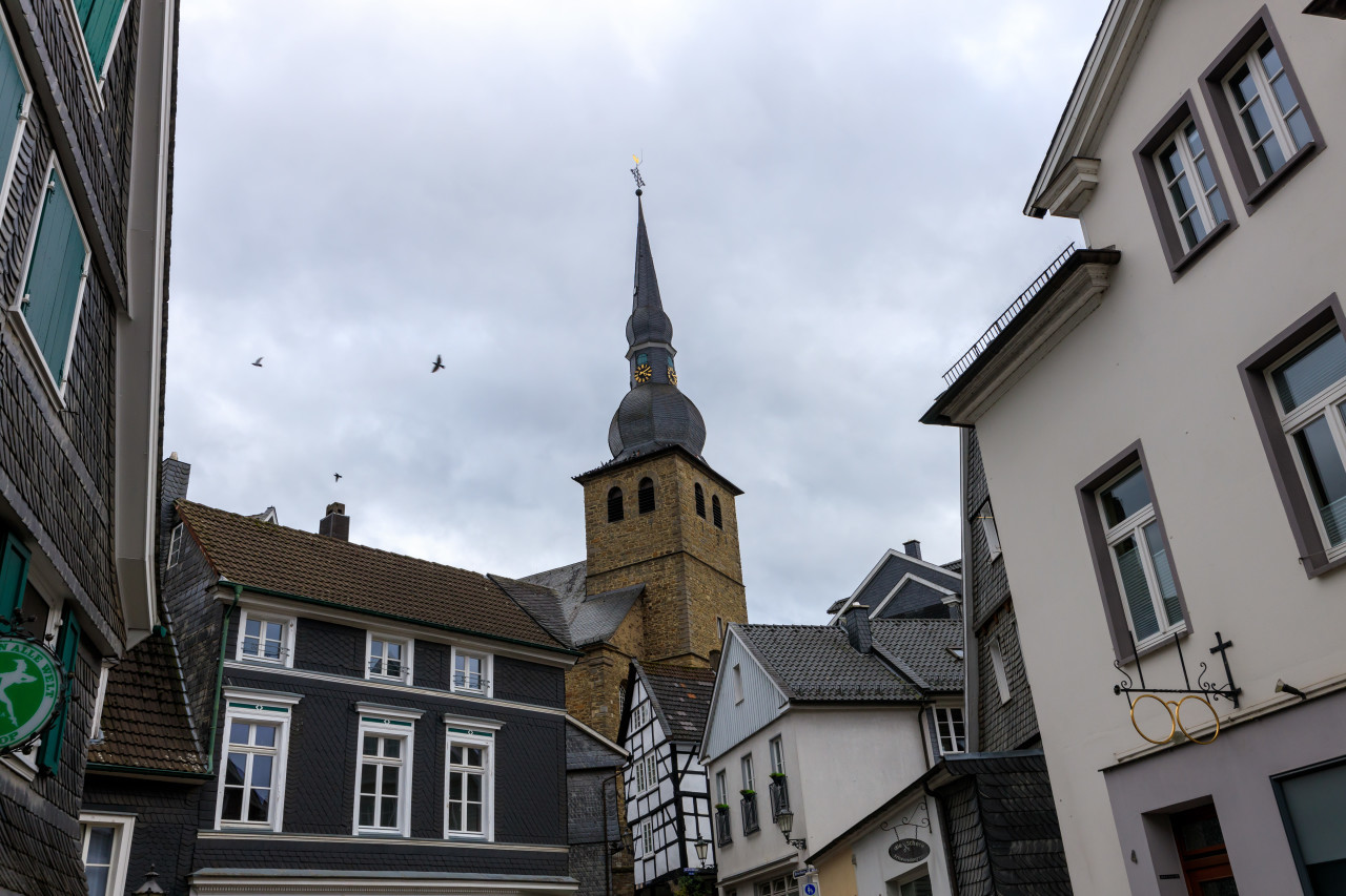 Medieval old town Langenberg by Velbert in Germany