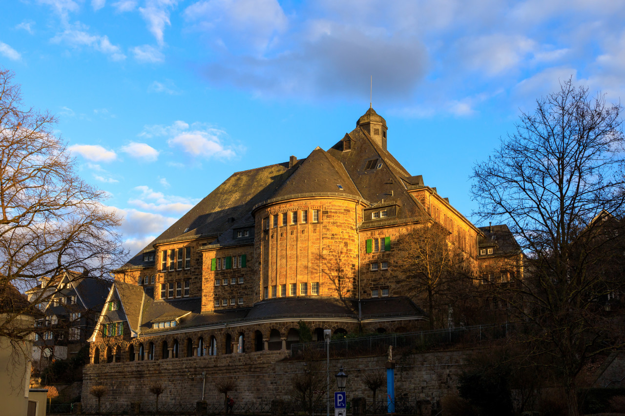historical community centre in Velbert Langenberg at day