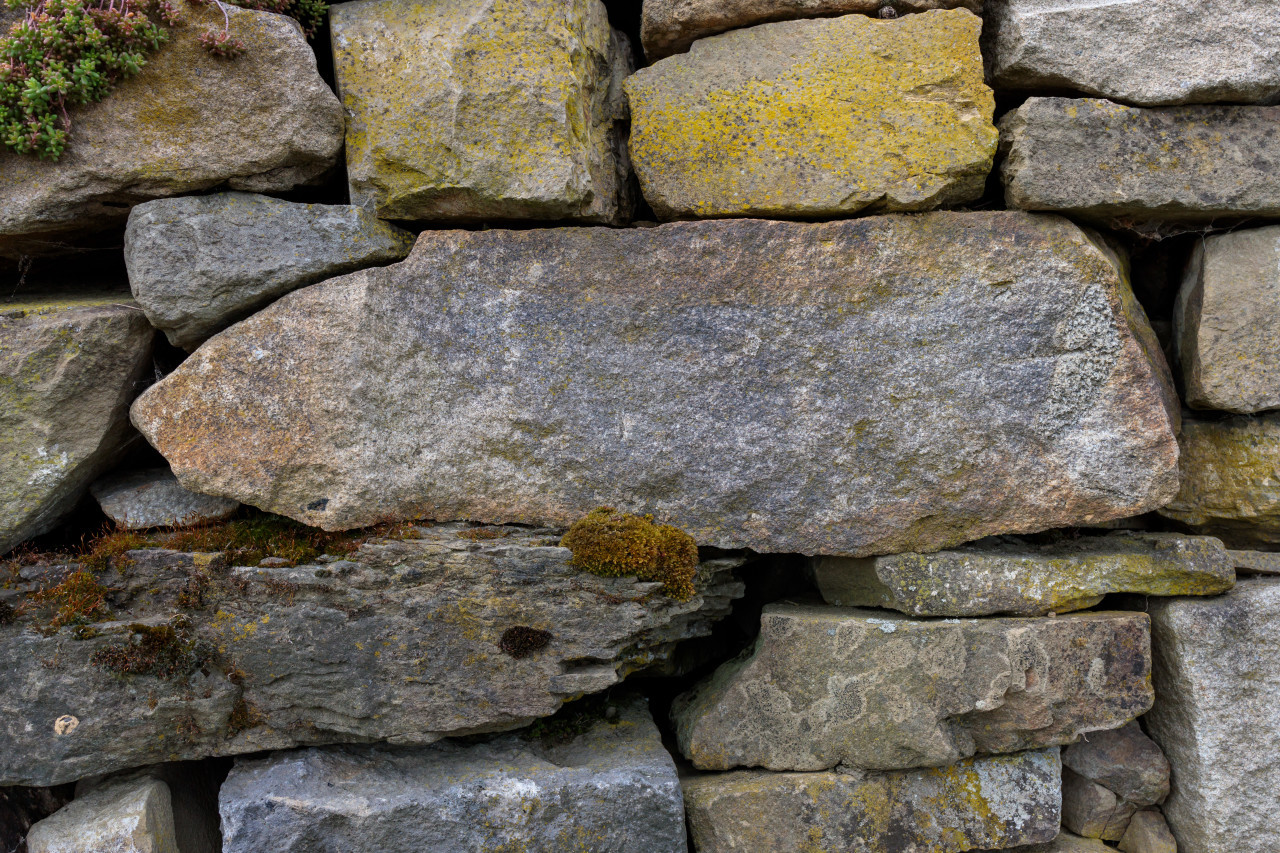 Full frame stone wall texture