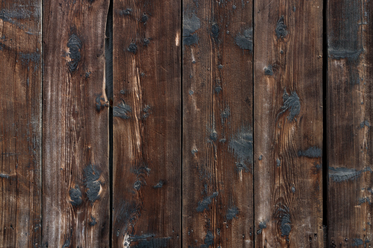 Dark brown natural wood plank background