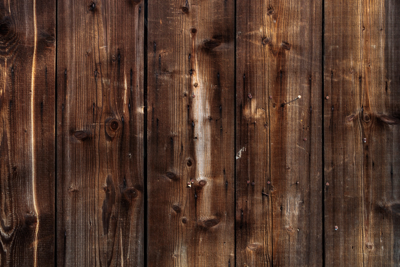 Dark brown wood plank background