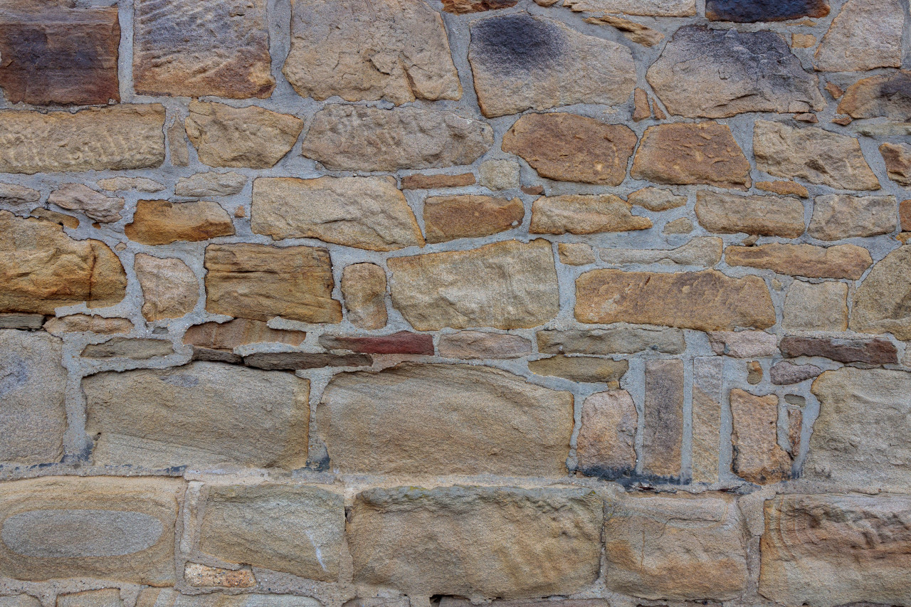 Stone wall texture of an old castle