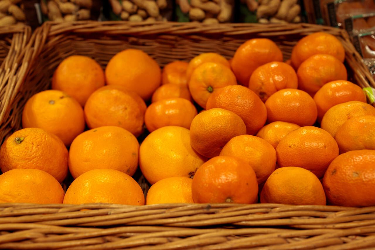 Mandarins in a basket