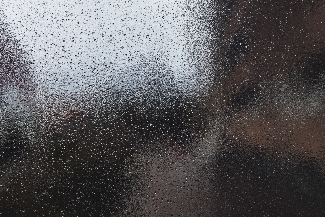Lots of raindrops on a window background
