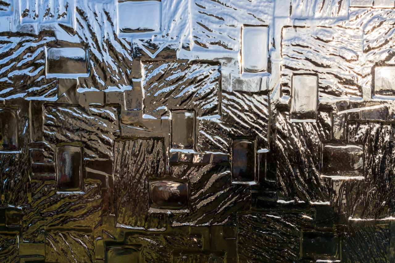 Patterned glass texture