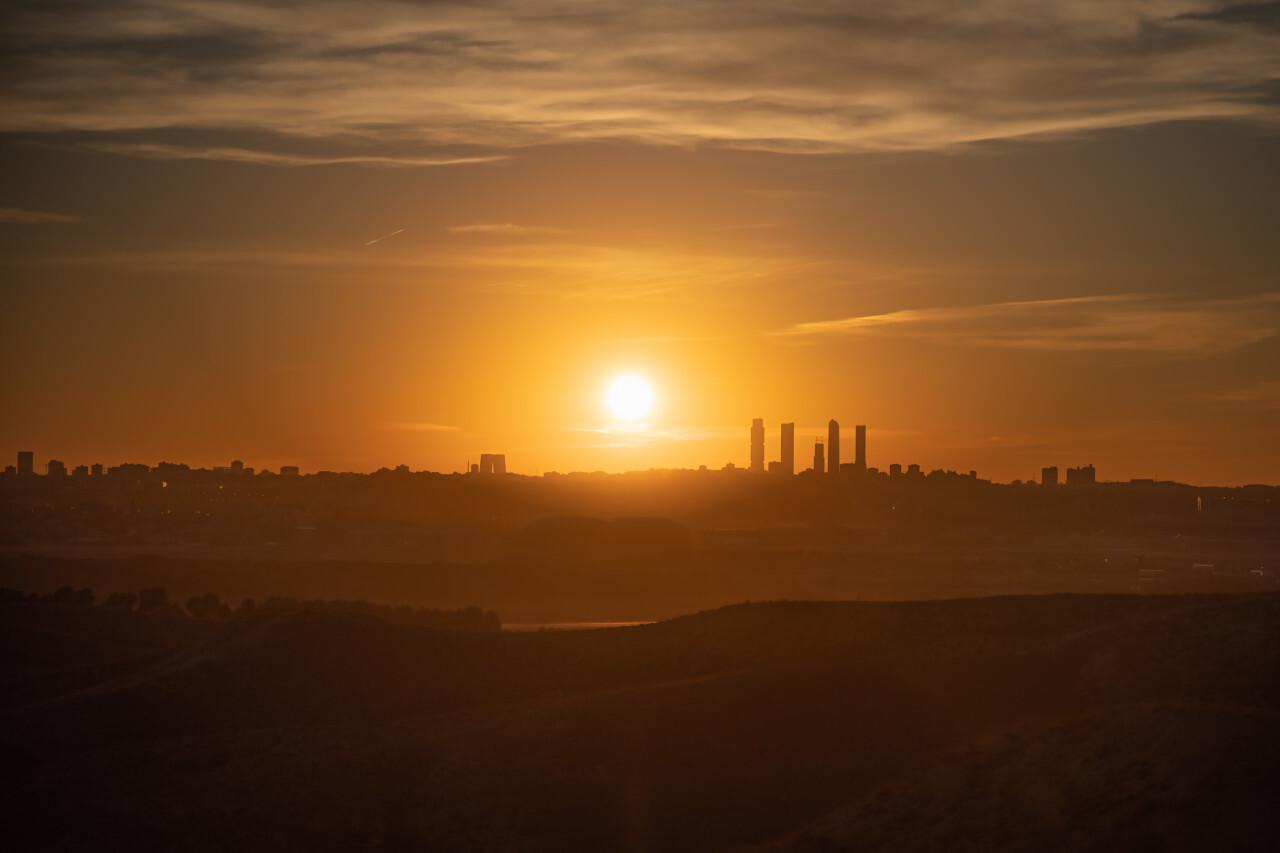 Madrid Sunset before Corona