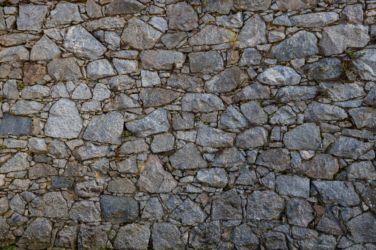 Medieval Stone Wall Texture Backgound
