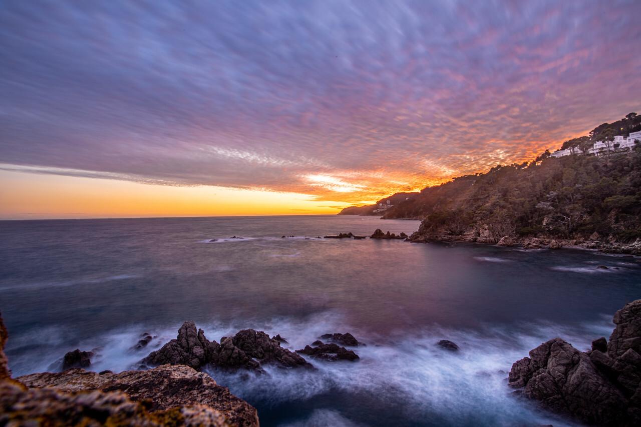 Sunset Landscape Canyet de Mar