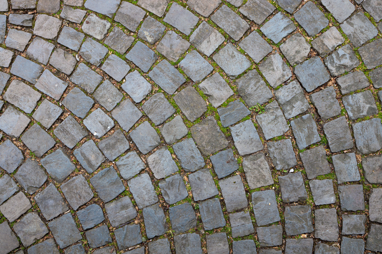 Medieval paving stone texture