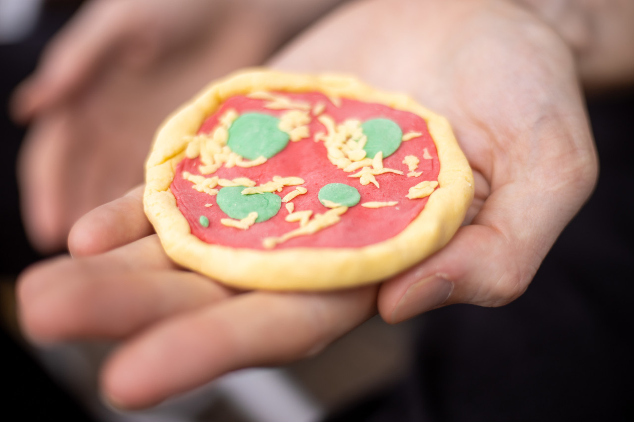 Pizza made from play dough