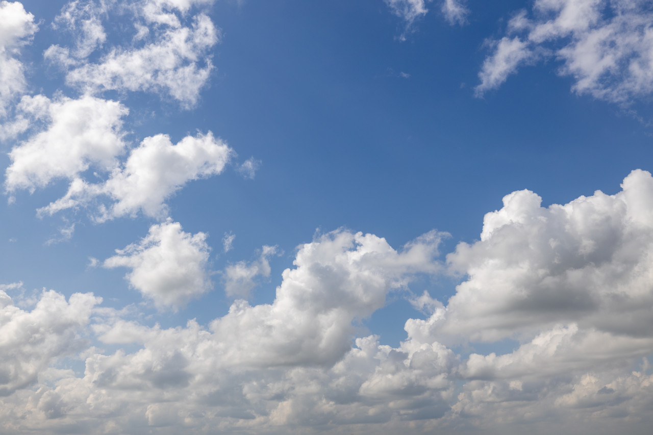 beautiful clouds on blue sky