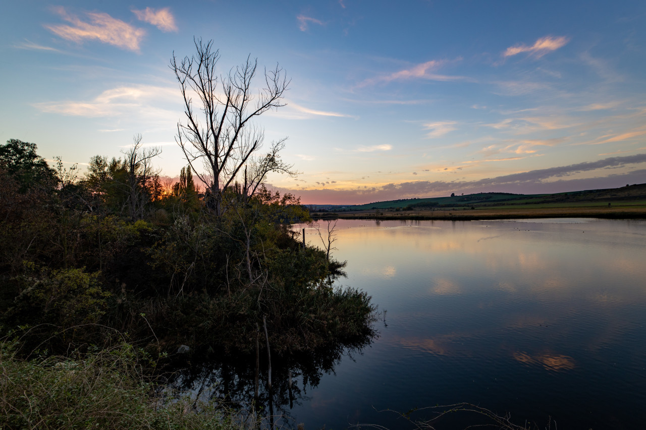 Teufe lake in germany by Amsdorf Saxony